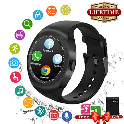 Smartwatch Android, Bluetooth Smart Watch Elegante Supporto SIM TF Card Touch Screen Sport Pedometro Cellulare Orologio Intelligente Digitale Wrist Watch Band Braccialetto per Smartphone Samsung Huawei ios Apple iPhone Android \