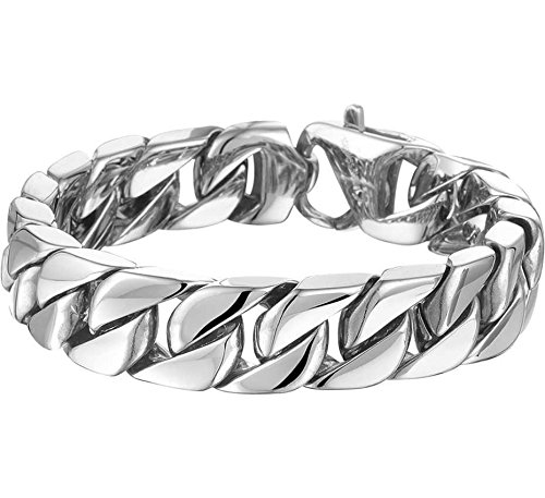 Trendjuwelier huiscollectie armband staal Gourmet 14,3 mm 21,5 cm