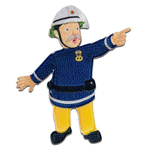 Feuerwehrmann Sam © Steel - Aufnäher, Bügelbild, Aufbügler, Applikationen, Patches, Flicken, zum aufbügeln, Größe: 7,8 x 6,1 cm