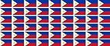 Mini Aufkleber Set - Pack glatt - 20x12mm - Sticker - Philippinen - Flagge - Banner - Standarte fürs Auto, Büro, zu Hause & die Schule - 54 Stück