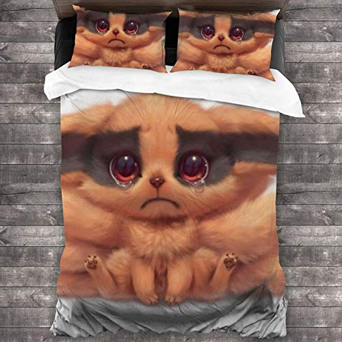Woworldwo Naruto Uzumaki Naruto Boy And Girl Bedroom Decoration 3-Piece Set, Bed Duvet Cover Large Double Bed, With Zipper Closure Duvet Cover And Two Pillowcases.