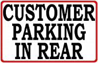 顧客の後方駐車 金属板ブリキ看板警告サイン注意サイン表示パネル情報サイン金属安全サイン