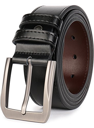 "Beltox Fine Men's Casual Leather Jeans Belts 1 1/2"" Wide 4MM Thick Alloy..."