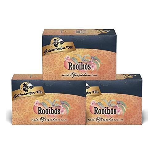 Goldmännchen Tee Rooibos-Pfirsich, 20 Teebeutel, 3er Pack (3 x 40 g)
