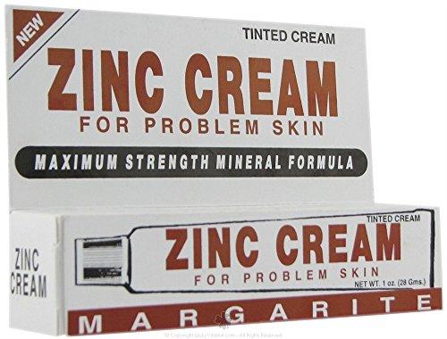 Margarite Cosmetics Zinc Cream 1 oz (Pack of 3)