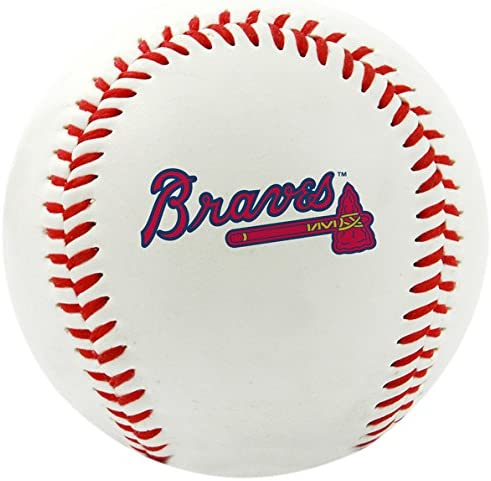 Rawlings MLB Atlanta Braves Team Logo Baseball Official White product image