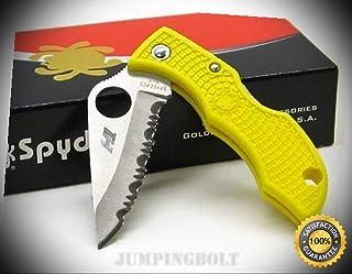 Yellow Ladybug Salt H1 Serrated Knife LYLS3 - Premium Quality Very Sharp EMT EDC