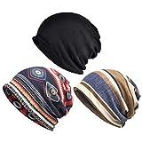 Sombrero de quimioterapia para Mujer, Paquete de 3 Gorros, Gorro, Bufanda, turbantes, Sombrero, Gatsby, cáncer, Cabeza, envolturas