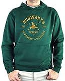 Sudadera Hombre - Unisex Hogwarts School, Harry Potter (Verde Botella, M)
