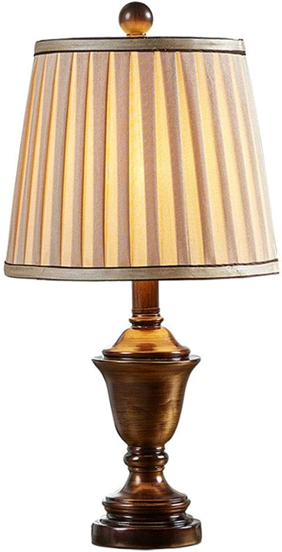 Wangyi Tischlampe- Europischen stil tischlampe schlafzimmer einfache luxus retro amerikanische tischlampe wohnzimmer studie land nachttischlampe (Farbe   Champagner - Gold-51x25.5cm)