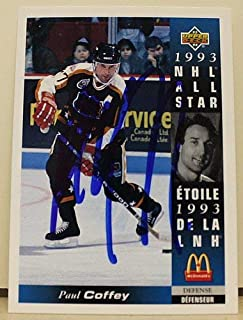 Paul Coffey Detroit Red Wings Autographed 199394 Upper Deck McDonalds Card - Signed NHL Cards