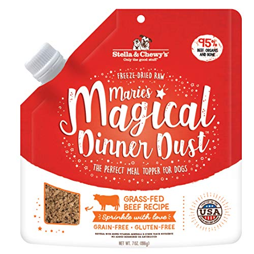 Stella & Chewy's Freeze-Dried Raw Marie's Magical Dinner Dust Grass-Fed Beef Recipe Dog Food Topper,...