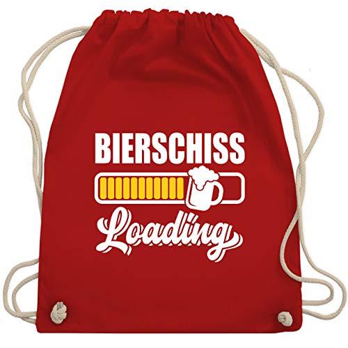 Shirtracer Karneval & Fasching - Bierschiss loading - Unisize - Rot - Verkleidung Kostüm - WM110 - Turnbeutel und Stoffbeutel aus Baumwolle
