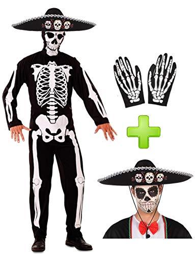 Disfraces Halloween Disfraz de Esqueleto Mejicano