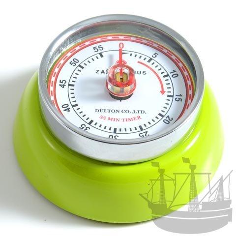 Zassenhaus 72259 Kitchentimer - Küchentimer - Kurzzeitmesser Speed mit Magnet - Kiwi/grün Ø 7 cm Höhe 3 cm