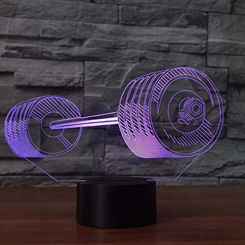 3D LED Lampe Weihnachtsgeschenke Weihnachtsgeschenke 7 Farben Ändern 3D LED Langhantel Form Licht USB Poseing Tischlampe Schlafzimmer Nachttisch Geschenke Lampara Sleep Li Ghting mit Fernbedienung