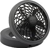 "O2COOL 5"" Portable USB or Electric Fan, Black/Gray"