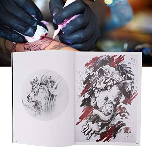 Oyunngs 56 Seiten Tattoo Pattern Book, Exquisite Pattern Tattoo Book Body Tattoo Übungsvorlage Buchzubehör