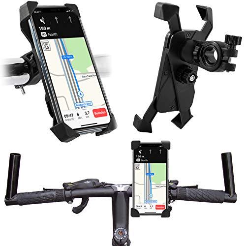 Fahrrad Halterung passend für Samsung Galaxy A52 5G A72 A42 A32 A12 A10 A10s A20s A20e A30s A40 A50 A70 A80 A90 A41 A51 A71 A21s   4 Ecken Handyhalterung Bike Holder   Lenker Halter 360° drehbar