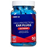 Rite Aid Extreme Foam Earplugs, NRR 32 - 50 Pairs | Color May Vary | Disposable Ear Plugs for Sleeping or Concerts