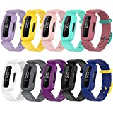 Compatible with Fitbit Ace 3 Bands for Kids, Silicone Replacement Band Water Resistant Fitness Watch Starp for Fitbit Ace 3 Kid's Band (Multicolor-10Pack)