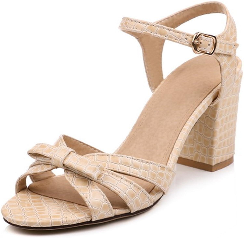 GIY Women's Strappy Chunky High Heeled Sandals Block Heel Peep Toe Glitter Wedding Party Pump Dress Sandal