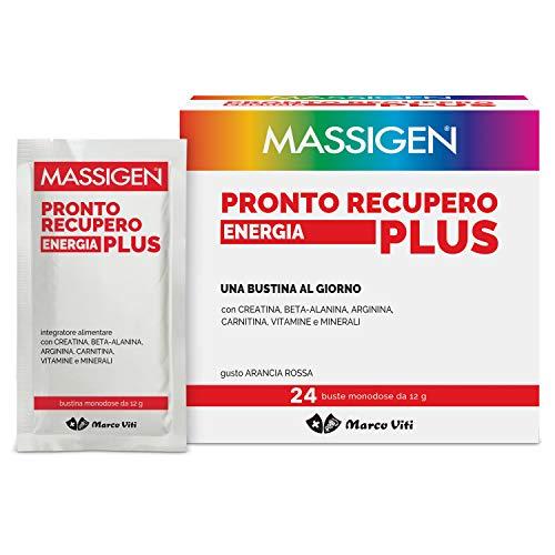 Massigen Vvmi062 Pronto Recupero Energia Plus - Integratore con Sali Minerali, Vitamine, Carnitina, Arginina, Beta-Alanina - 400 G