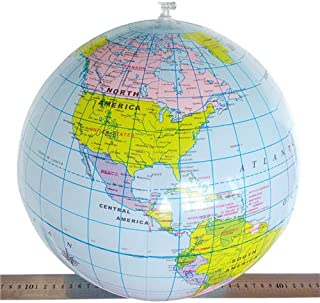 2017 40CM Inflatable World Globe Teach Education Geography Map Balloon Beach Ball NNA