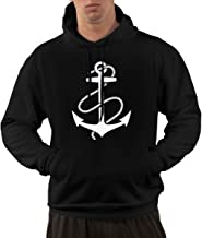 Anchors Aweigh Men's Fashion Pullover Casual Hoodie Hooded Sweatshirt with Pockets