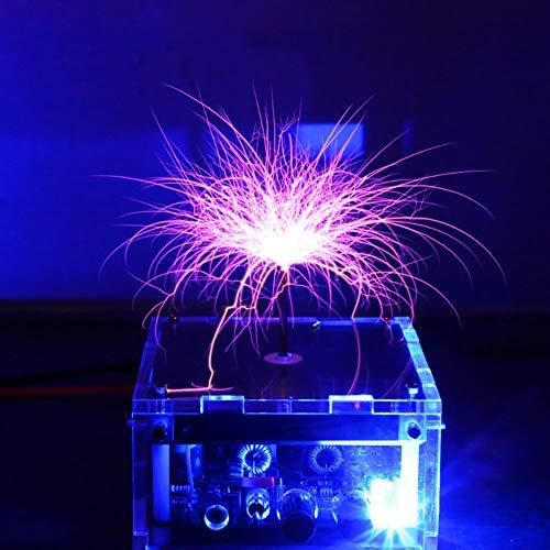 WIEUR Bobina musical plana de Tesla, equipo de descarga de alto voltaje, juguete experimental, relámpago artificial
