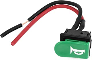 uxcell SPST Green Horn Button Momentary Wired Switch 12V for Motorbike