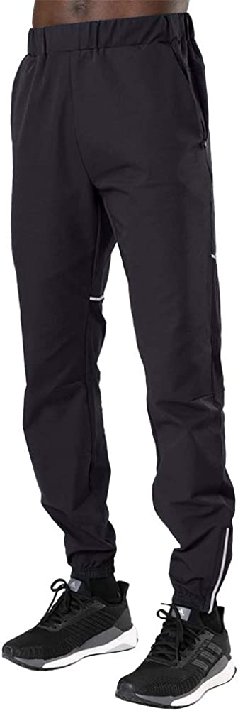A WATERWANG Mens Joggers Pants Lightweight Running Pants for Athletic Workout with Zipper Pockets