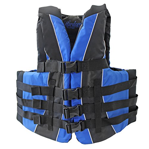 Hardcore Water Sports Adult Fully Enclosed Neoprene and Polyester Life Jacket Vest (Blue)