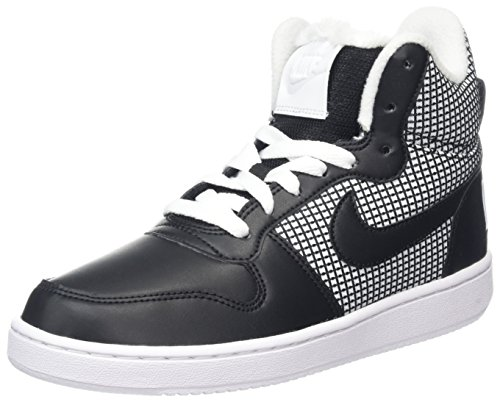 Nike Damen Court Borough Mid SE Hohe Sneaker, Weiß (White/Black), 38.5 EU