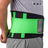Rückenbandage Rückengurt Lindert Schmerzen - Acdyion Rückenstützgürtel, Geradehalter Rückenlehne für gute Körperhaltung, Haltungskorrektur, Verletzungen zu vorbeugen, Rückenmuskulatur Grün(XL)
