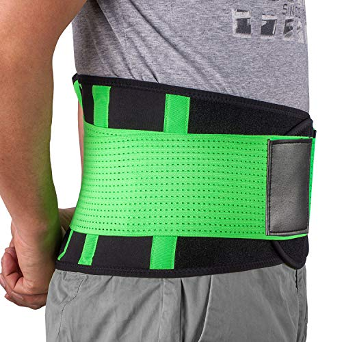 Cintura di supporto lombare regolabile–acdyion sollievo dal dolore, doppia regolazione, prevenzione degli infortuni alla colonna vertebrale e migliora la postura leggera e traspirante cintura lombare