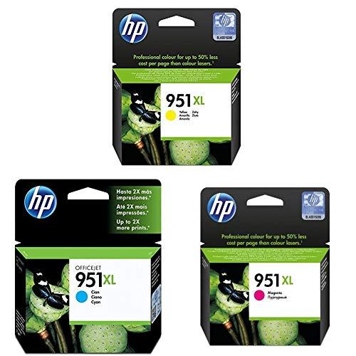 HP 951XL Multipack (Magenta + Cyan + Gelb) Original Druckerpatronen mit hoher Reichweite für HP Officejet Pro