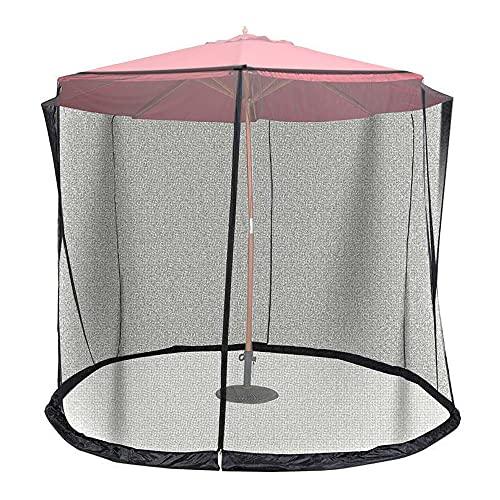 Sunydog Filet réglable de Maille de Parapluie de 8,2 à 9,8 Pieds d'écran de Parapluie pour Le Jardin extérieur de Patio