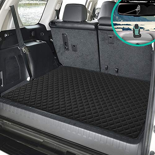 "FH Group F16501 Deluxe Heavy-Duty Faux Leather Multi-Purpose Cargo Liner, Diamond, 32"", Black Color w. Gift- Fit Most Car, Truck, SUV, or Van"