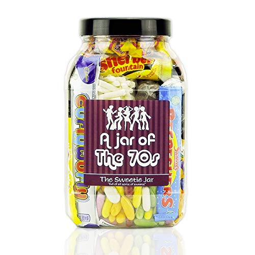 A Jar of the 70s packed with funky retro sweets from the disco decade