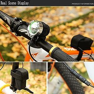 Linterna de cabeza Comunite con led CREE XML T6 de 1200 lúmenes, recargable, con batería de 5200 mAh, resistente al agua, ideal para ciclismo, montaña y senderismo