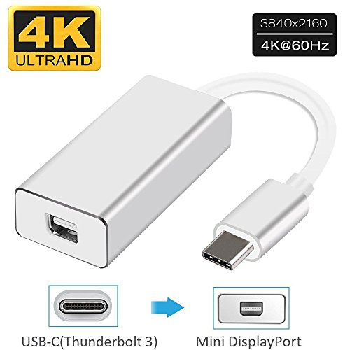Esamconn USB a Mini DP DisplayPort MD Adattatore per convertitore video AV HD DisplayPort MDP UHD 4K Full HD 1080P da di tipo per MacBook, Dell XPS 13, ChromeBook Pixel, Galaxy S8 / S8 + e altro