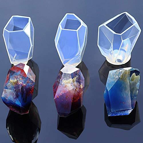 CVBGF Molde de siliconaMolde de silicona de cristal de piedras preciosasDIYManualidades para...