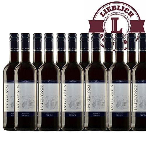 Rotwein Griechenland Imiglykos Katharos lieblich (12x0,75l)