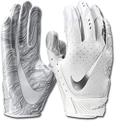 Men s Nike Vapor Jet 5 0 Football Gloves White Chrome Size X Large product image