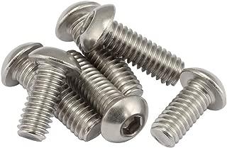 1/4-20 x 1/2 Inch Button Head Socket Cap Bolts Screws 18-8 Stainless Steel, Allen Hex Drive, 50 Pack