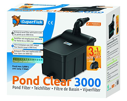 Superfish Teichfilter Set PondClear 3000 mit 5W UVC + Pumpe