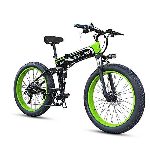 ZH Elektrofahrräd, 26 Zoll Faltbares Elektrisches Mountainbike, 500W/1000W 4.0