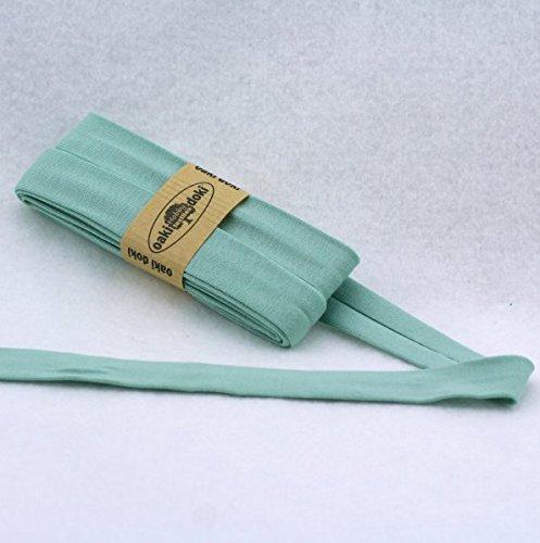 Oaki Doaki Jersey-Einfassband 3m, elastisches Schrägband, Breite: auf 2cm vorgefalzt, hellmint (023)