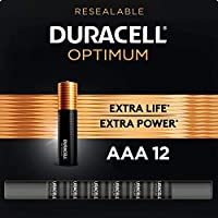 12-Count Duracell Optimum AAA Alkaline Batteries